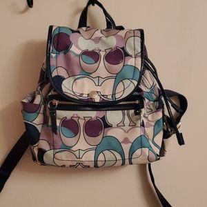 Coach Kyra signature C Scarf backpack purple/blue